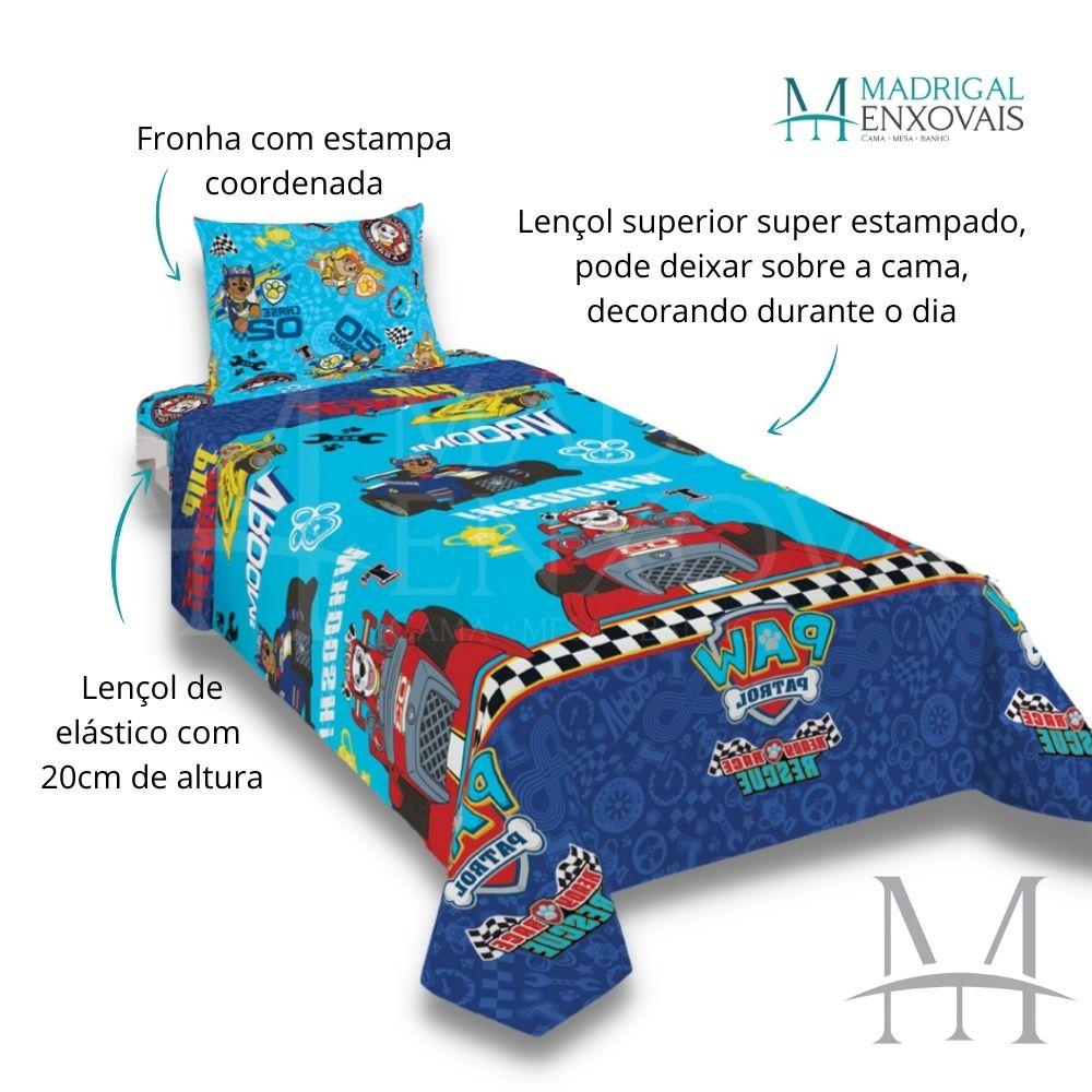 Jogo de Cama Infantil Patrulha Canina Lepper 03 Peças Microfibra