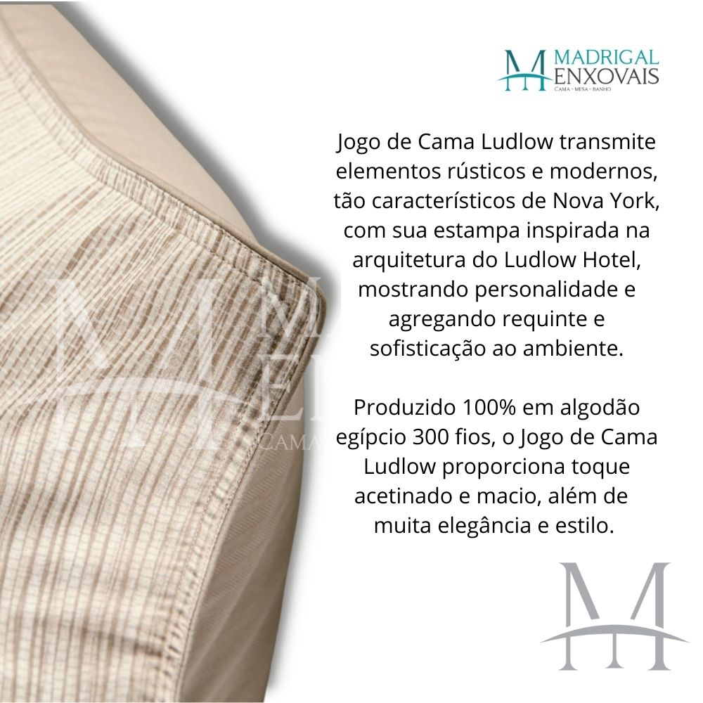 Jogo de Cama King 300 Fios By The Bed 04 Peças Ludlow Bege
