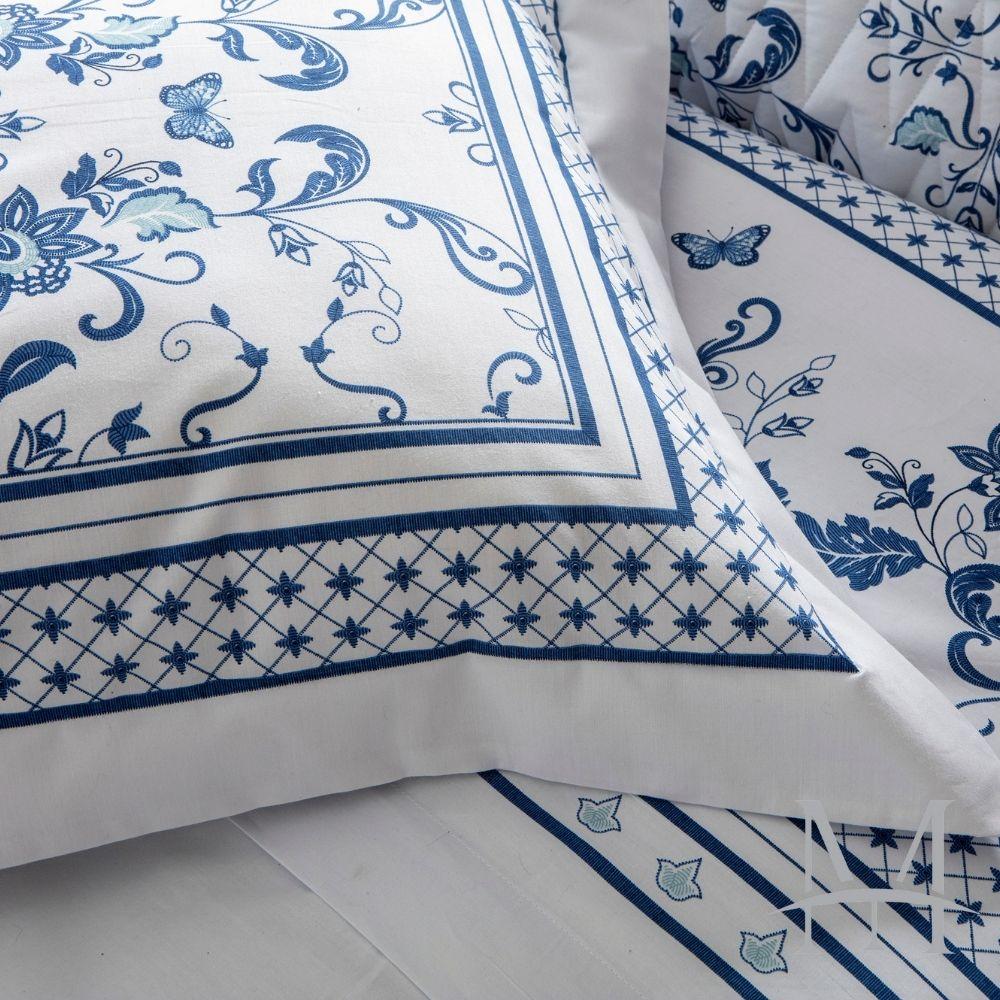 Jogo de Cama Queen 200 Fios Naturalle 04 Peças La Vie En Blue