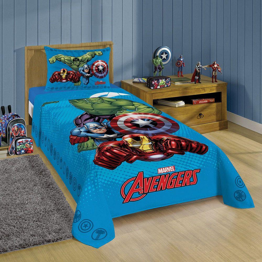 Jogo de Lençol Infantil Vingadores 02 Peças 1,50x2,10m Lepper