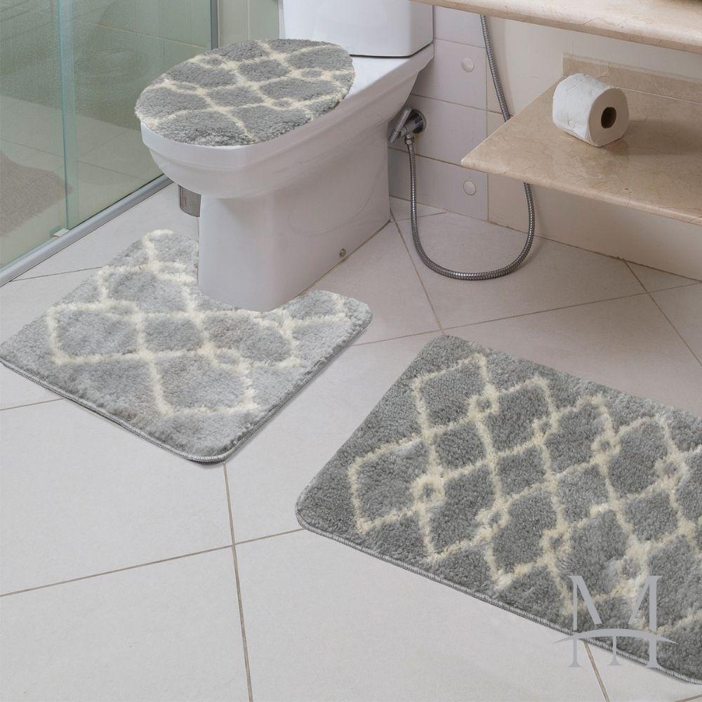 Jogo de Tapete Banheiro Jolitex Absolut 03 Peças Art