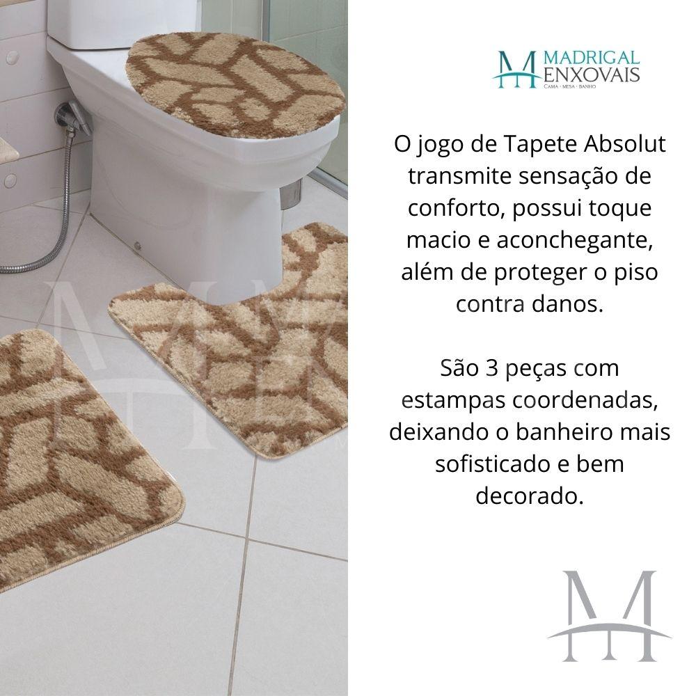 Jogo de Tapete Banheiro Jolitex Absolut 03 Peças Bricks