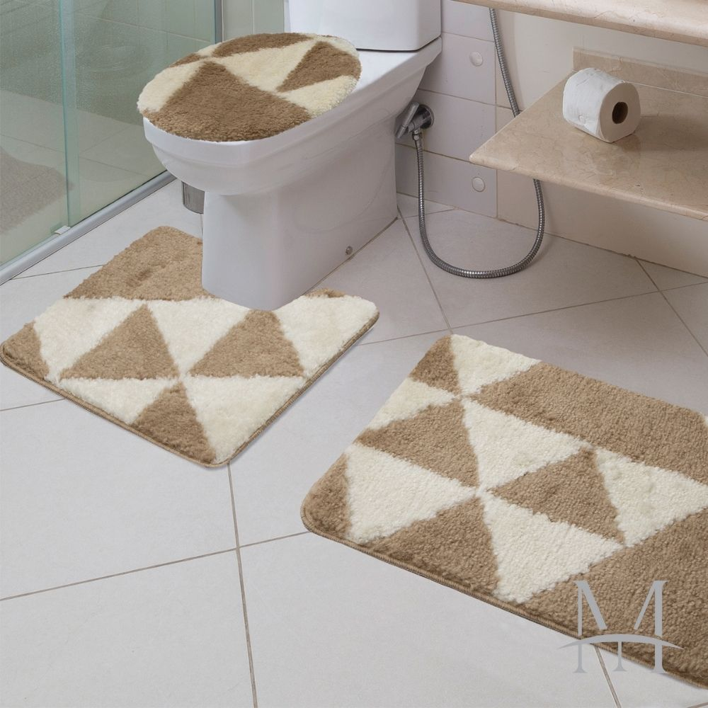 Jogo de Tapete Banheiro Jolitex Absolut 03 Peças Element