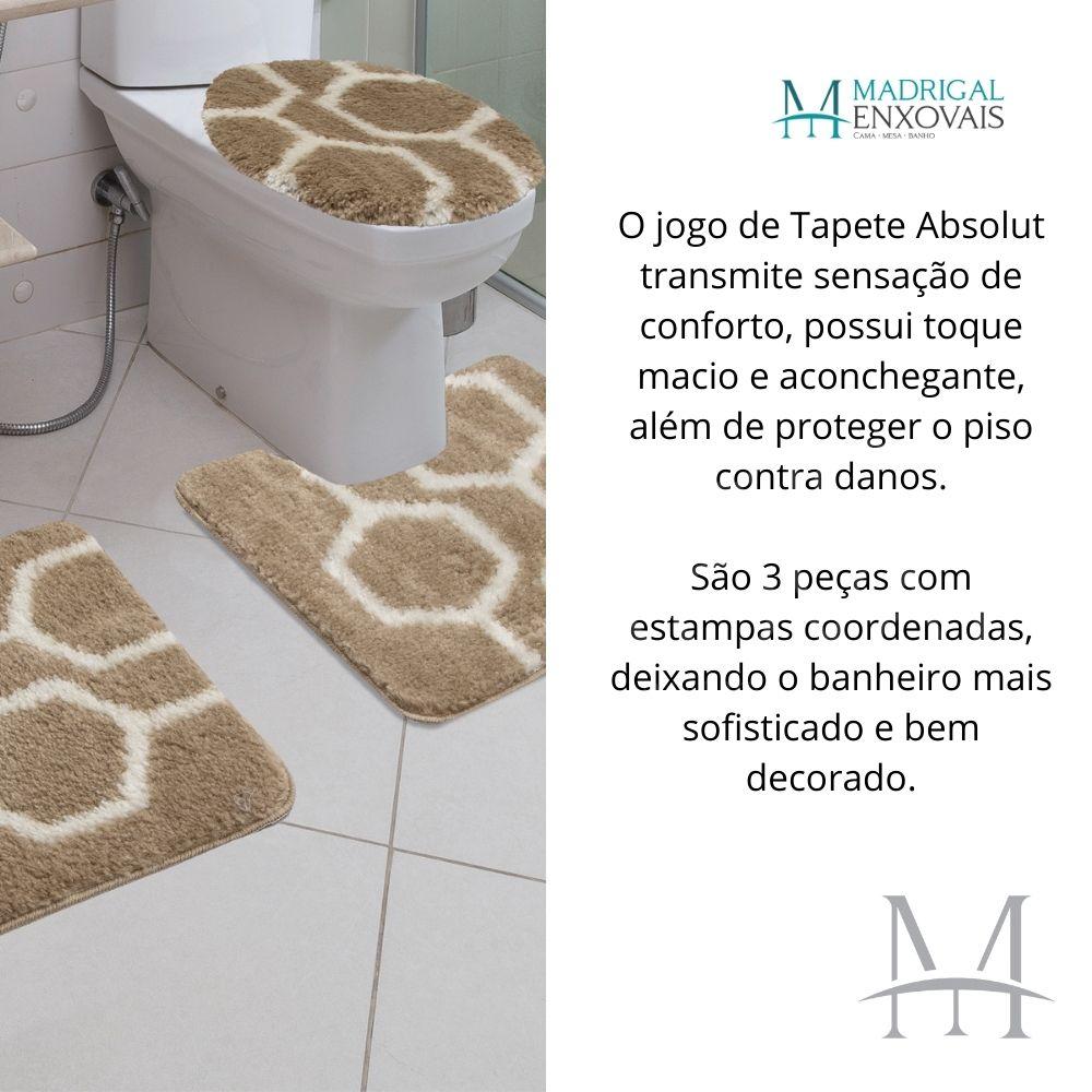 Jogo de Tapete Banheiro Jolitex Absolut 03 Peças Favo