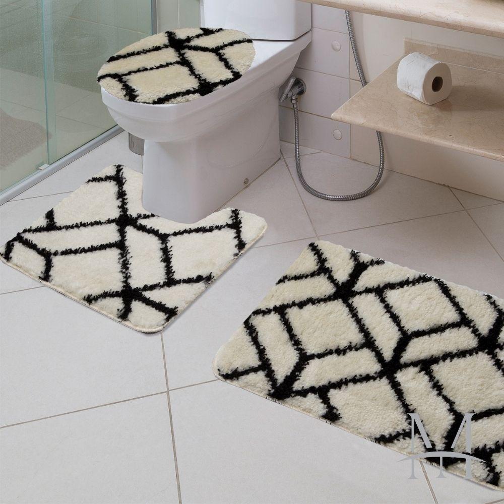Jogo de Tapete Banheiro Jolitex Absolut 03 Peças Style