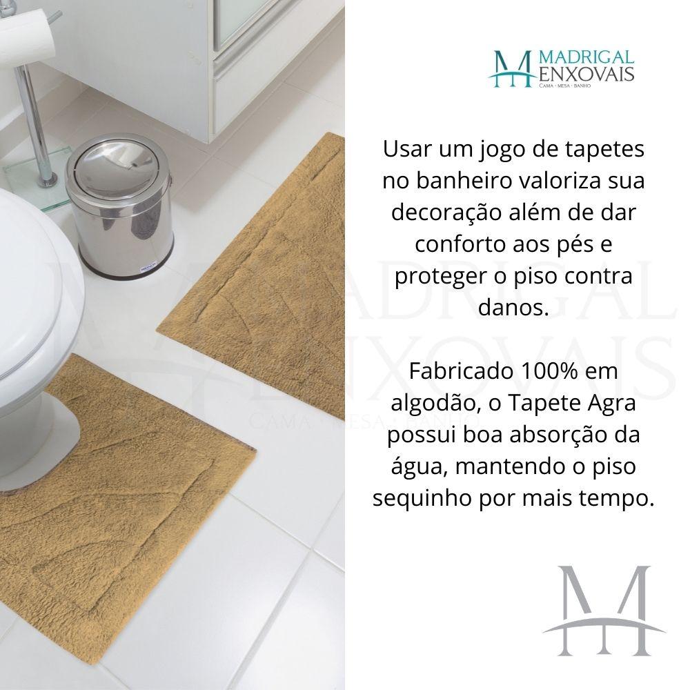 Jogo Tapete de Banheiro Jolitex Algodão Agra 02 Peças Caramelo