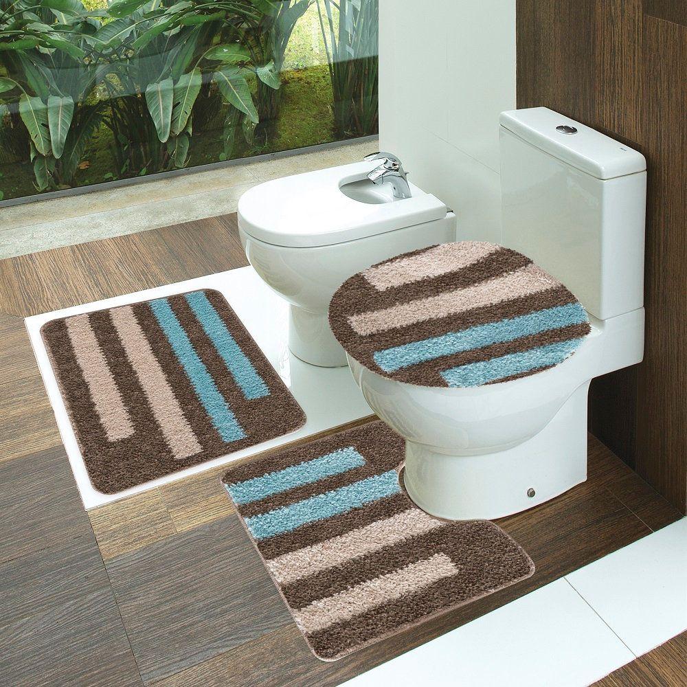 Jogo Tapete de Banheiro Van Gogh Essencial 03 Peças Jolitex
