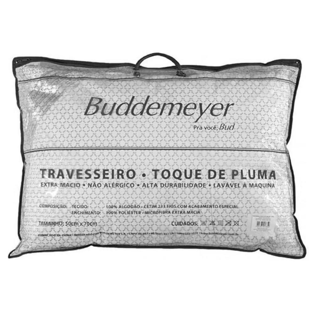 Kit 02 Travesseiros Buddemeyer Toque de Pluma 100% Algodão 233 Fios