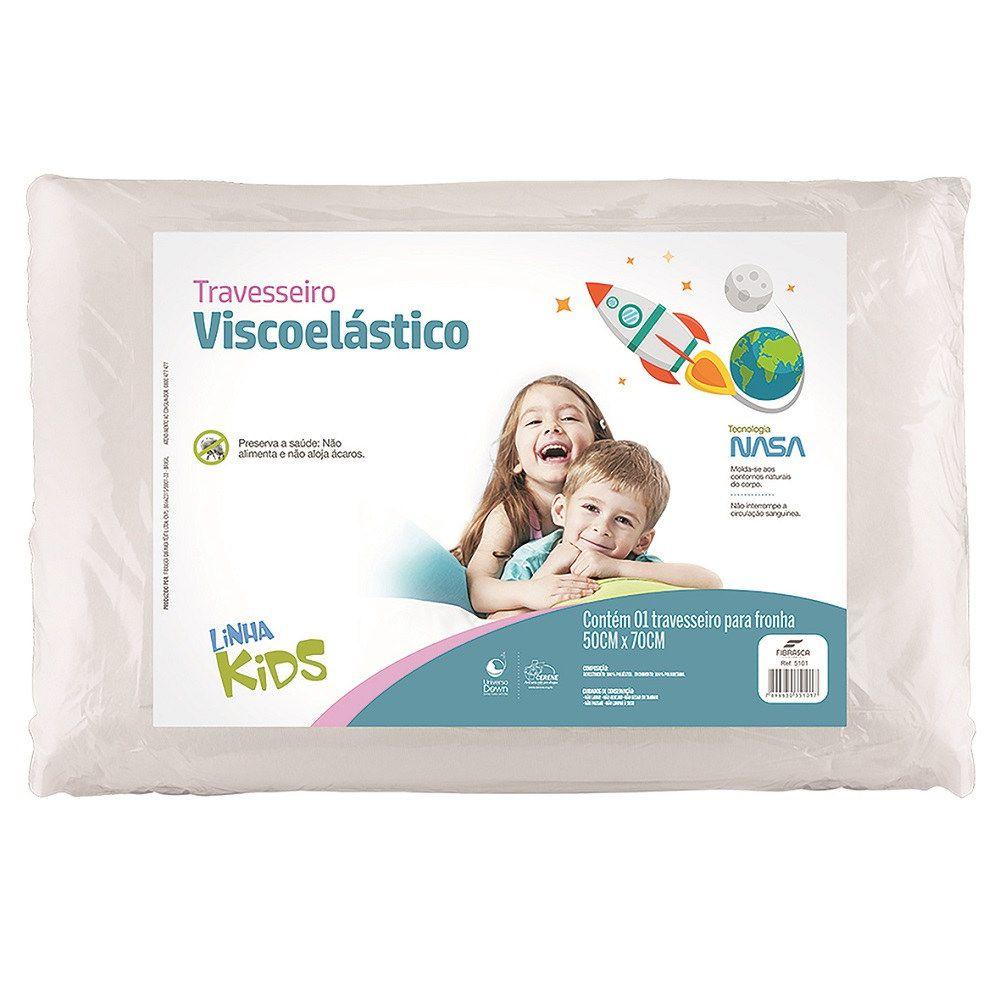 Kit 02 Travesseiros Nasa Kids Infantil Viscoelástico Fibrasca Z5101