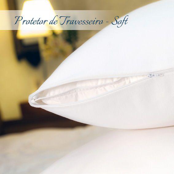 Kit 03 Capas Protetora Travesseiro Impermeável Plooma Soft com Zíper