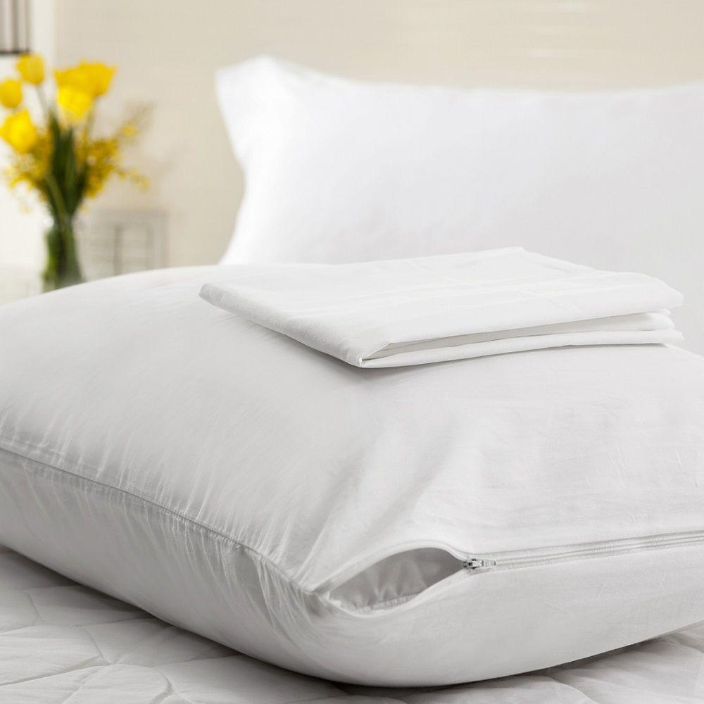 Kit 04 Capas Protetora Travesseiro Impermeável Plooma Soft com Zíper