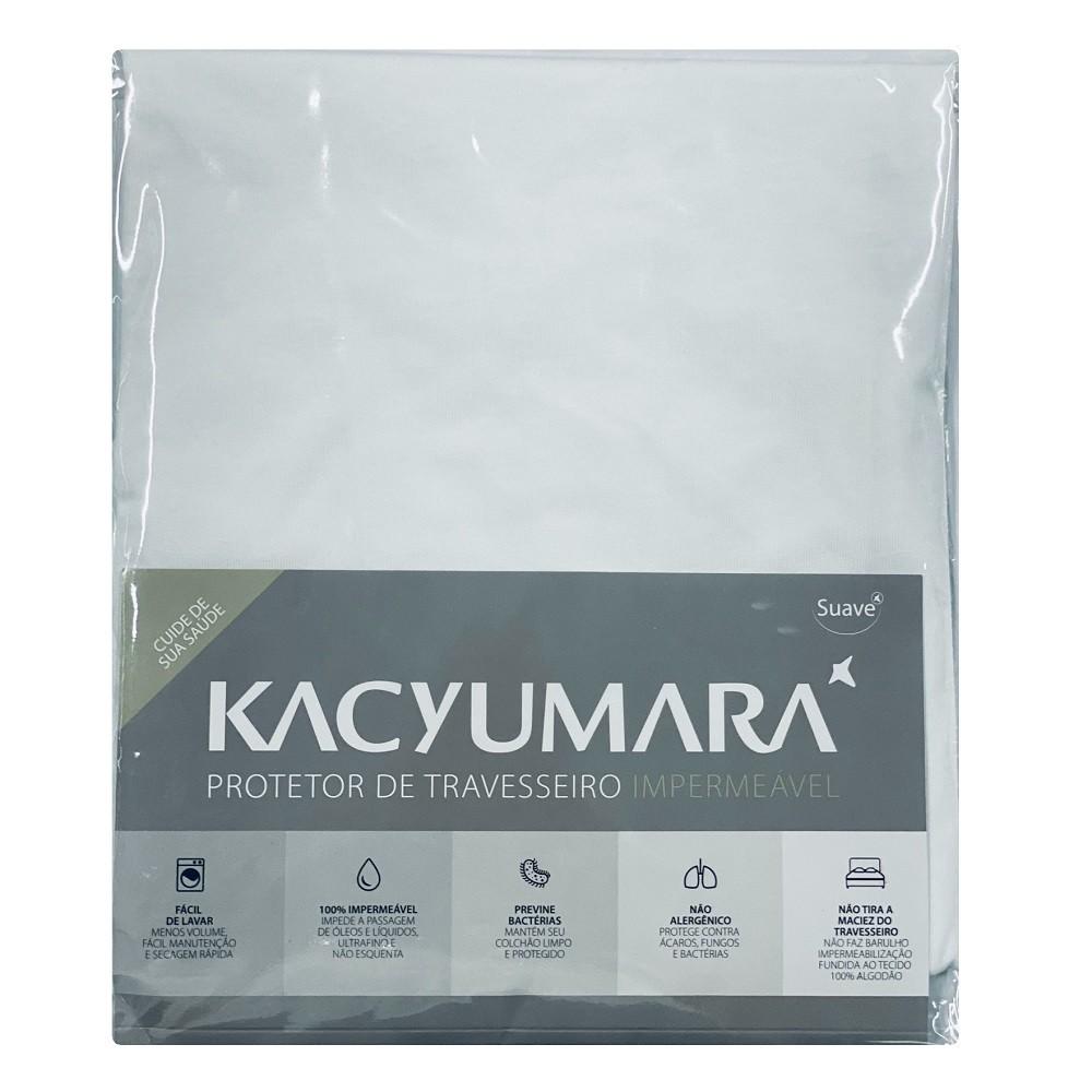 Kit 05 Capas Protetora Travesseiro Impermeável Malha Kacyumara