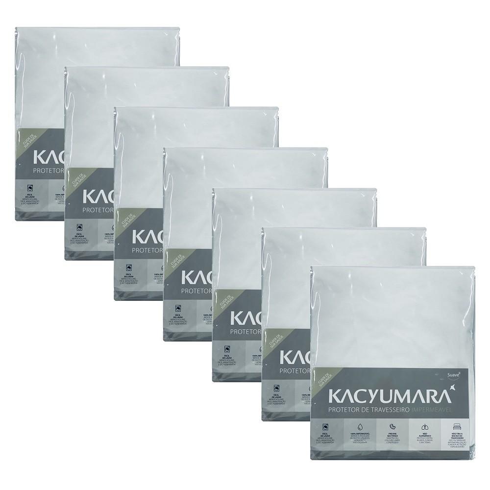 Kit 07 Capas Protetora Travesseiro Impermeável Malha Kacyumara