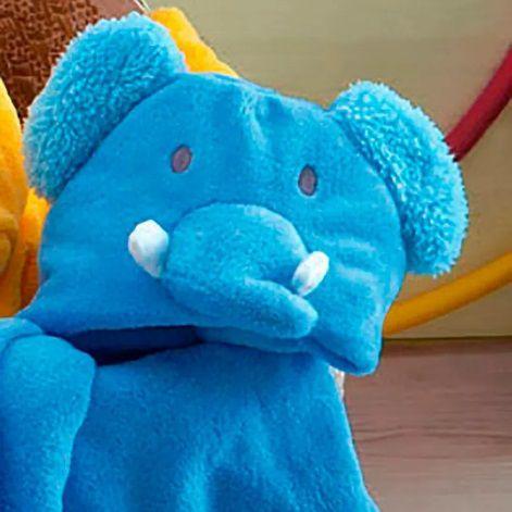 Manta Baby Com Capuz Jolitex 0,75x1,00m Bichos Elefante