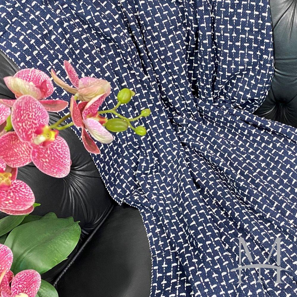 Manta Decoração Meliah Algodão 1,20x1,80 Mello Azul Marinho Cru