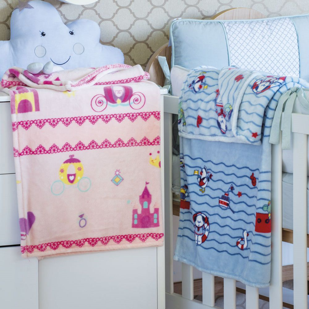 Manta Jolitex Kyor Plus Flannel Infantil Berço Bebê 0,90x1,10m