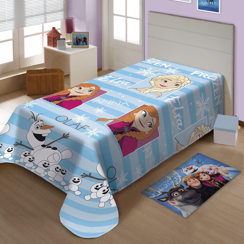 Manta Jolitex Solteiro Soft Microfibra Disney Frozen Oficial