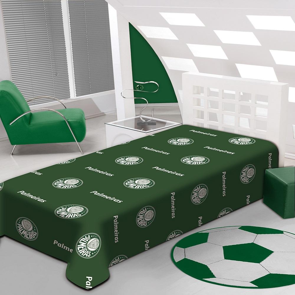 Manta Jolitex Solteiro Soft Microfibra Palmeiras 1,50x2,00m