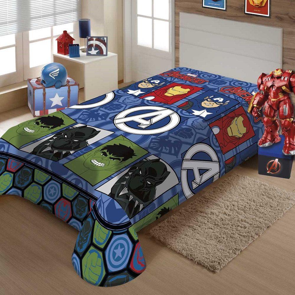Manta Jolitex Solteiro Soft Microfibra Vingadores Avengers