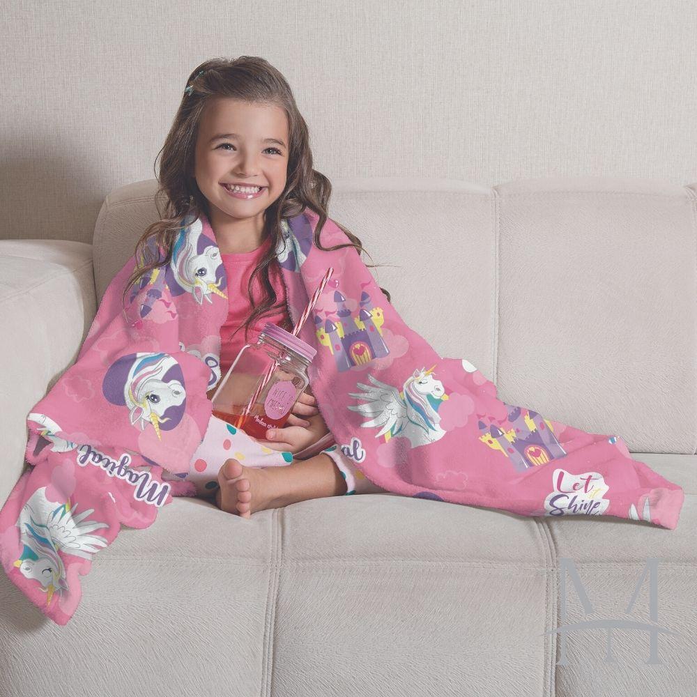 Manta Soft Fleece Infantil Lepper Doce Fantasia Microfibra