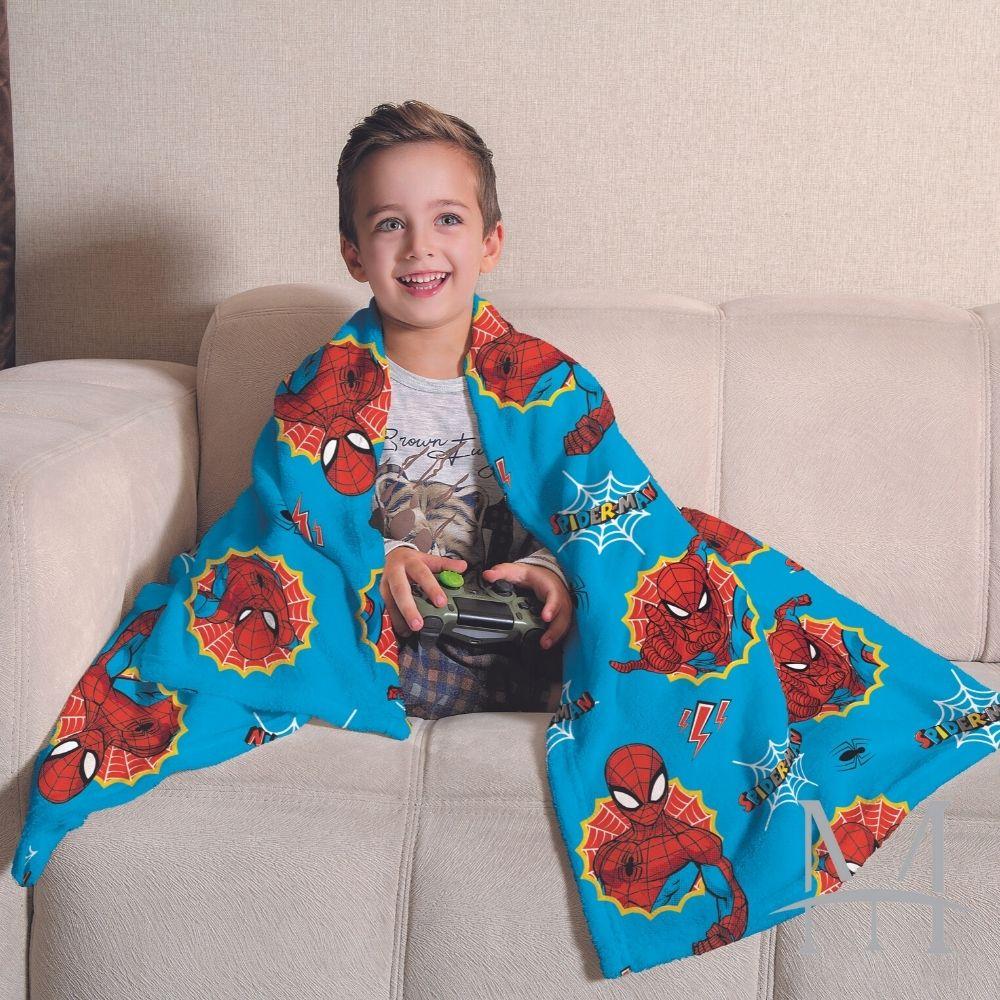 Manta Soft Fleece Infantil Lepper Homem Aranha Microfibra