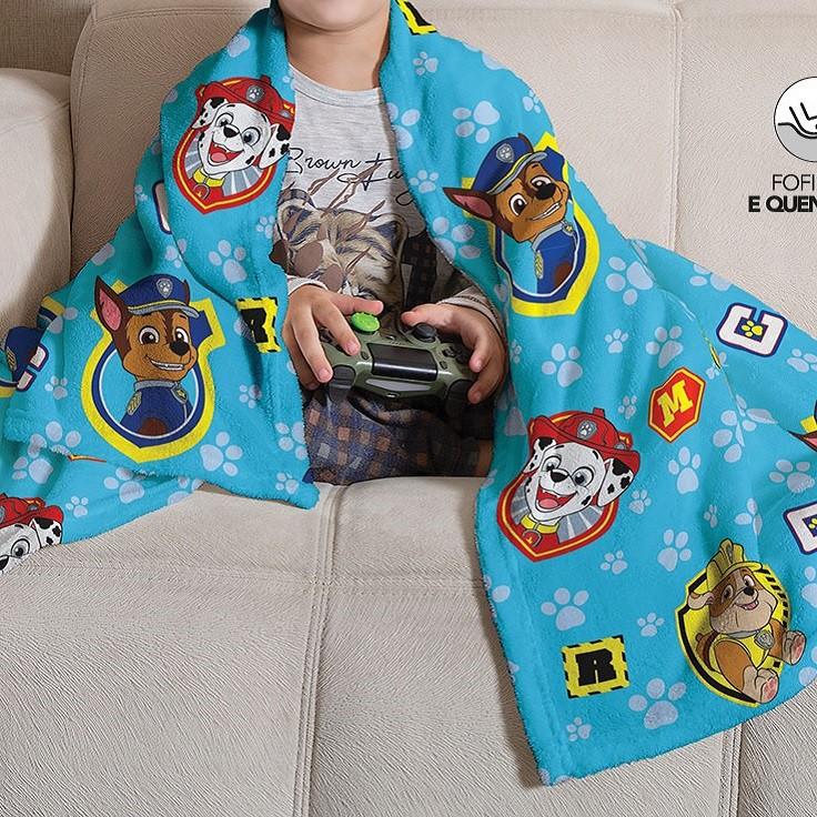 Manta Soft Fleece Infantil Microfibra Patrulha Canina Menino Lepper