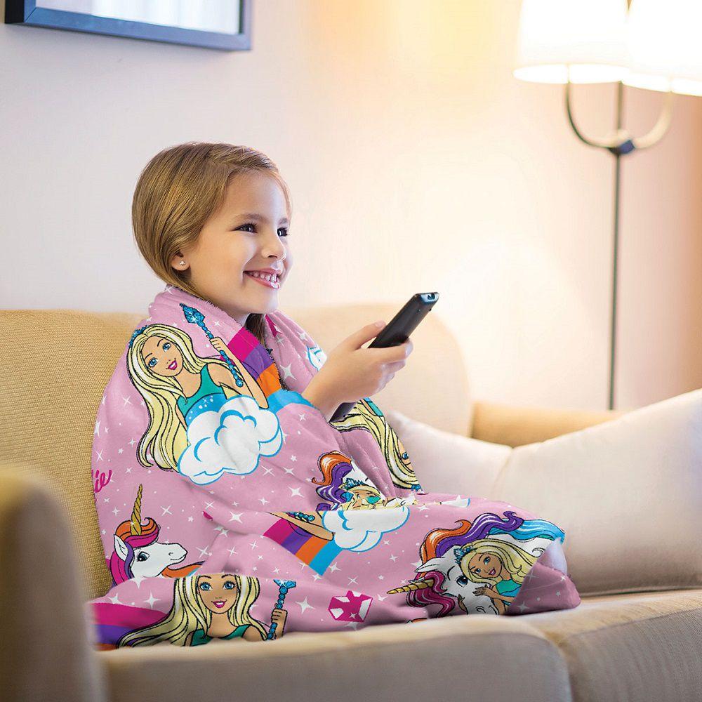 Manta Solteiro Soft Fleece Infantil Microfibra Barbie Lepper