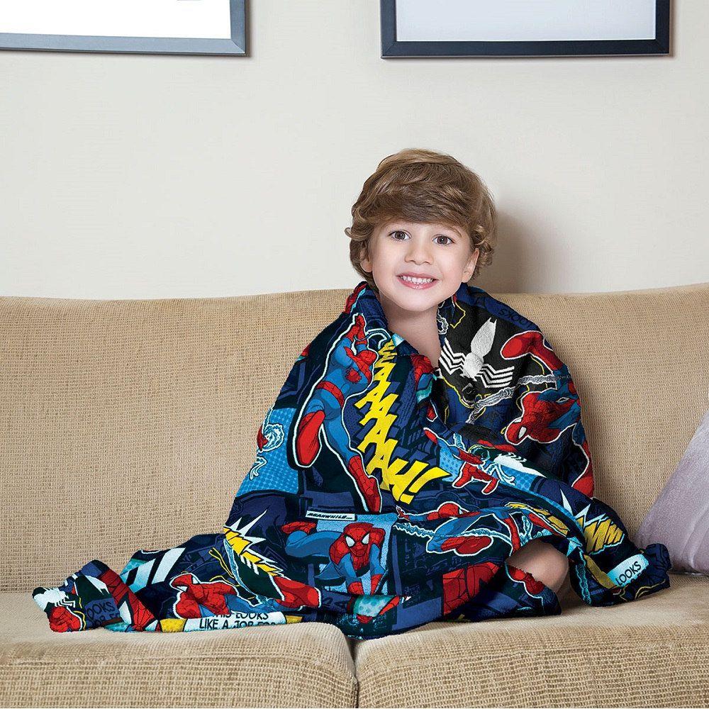 Manta Solteiro Soft Fleece Infantil Microfibra Homem Aranha Lepper