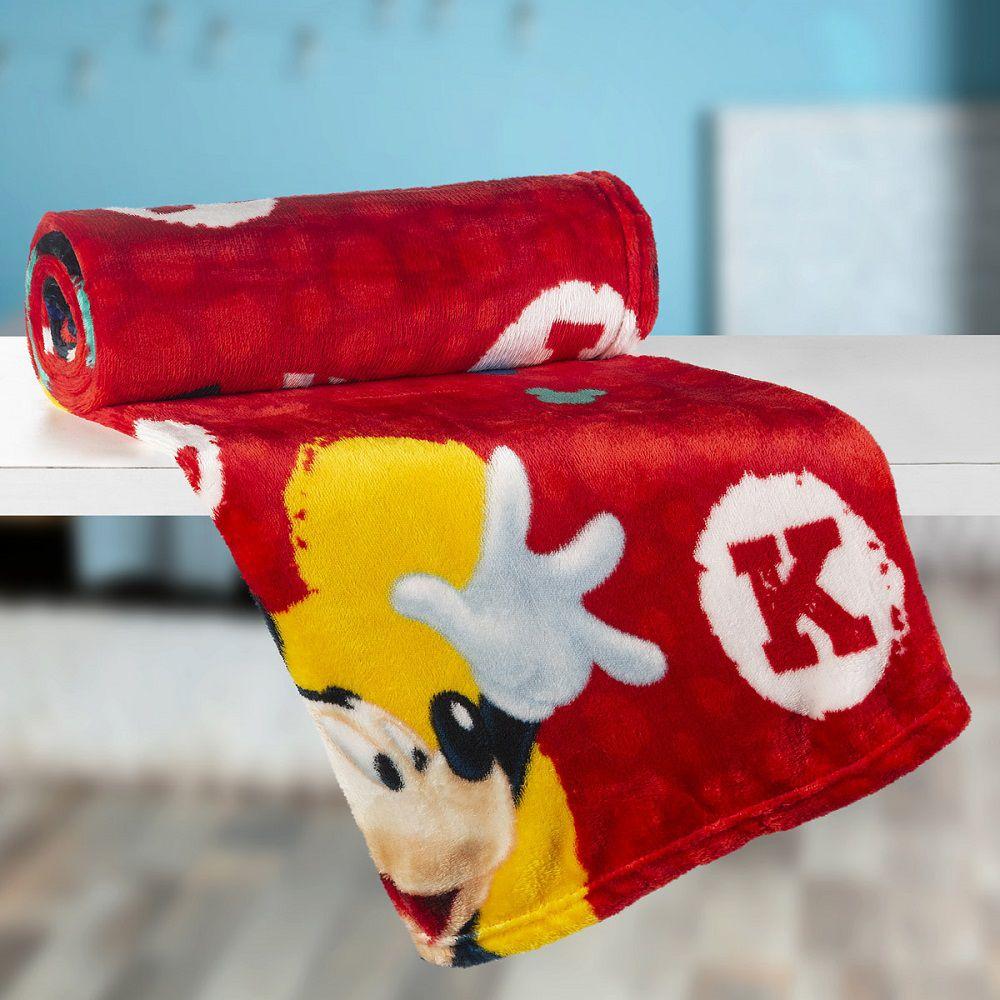 Manta Solteiro Soft Fleece Infantil Microfibra Mickey Lepper