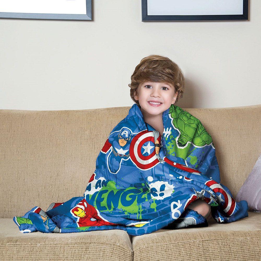 Manta Solteiro Soft Fleece Infantil Microfibra Vingadores Lepper