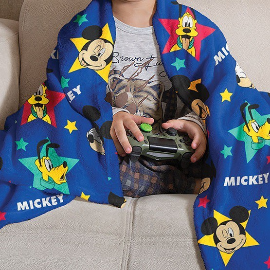 Manta Solteiro Soft Fleece Mickey Infantil Microfibra Lepper