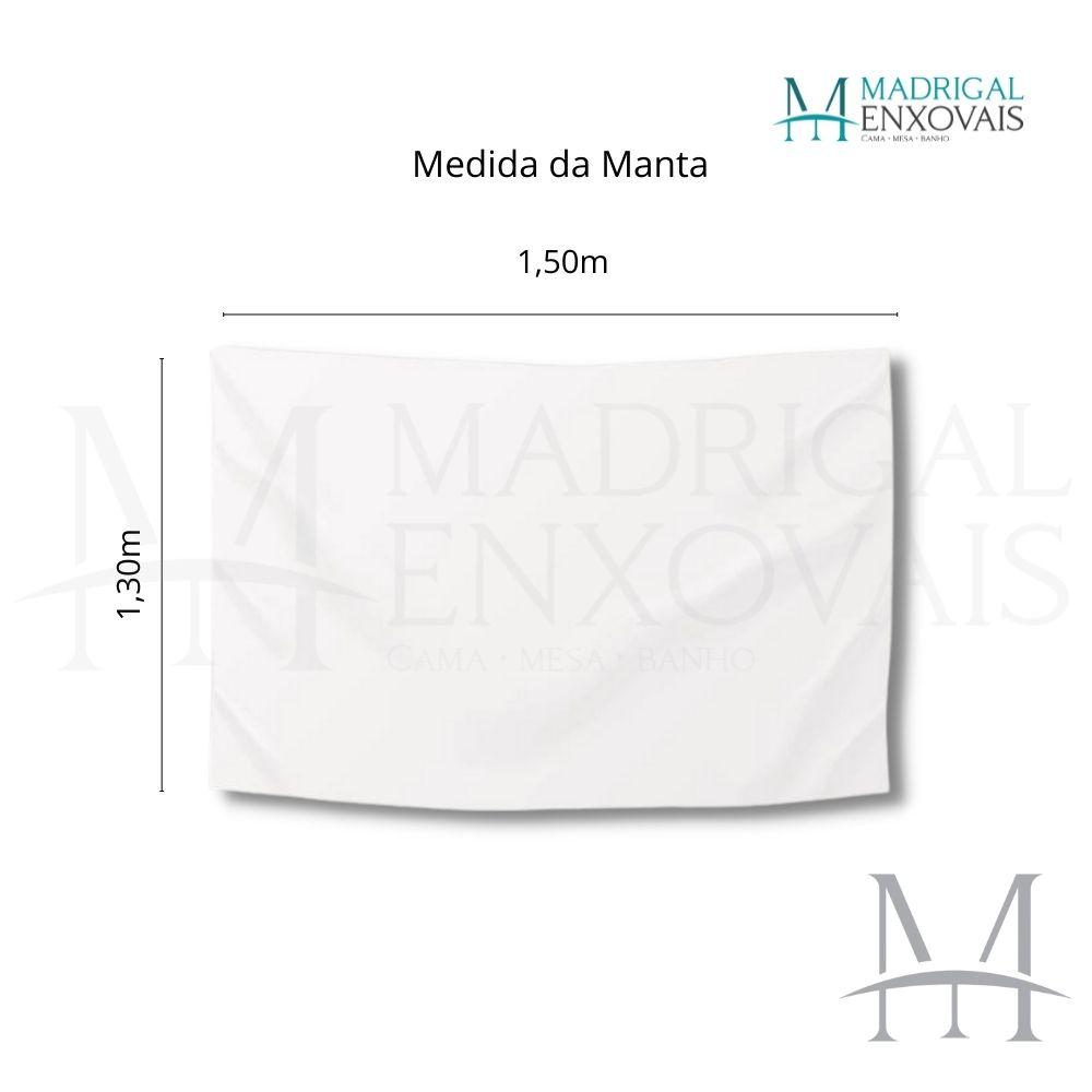 Manta Tricot Decoração Chenille Rozac 1,30x1,50m