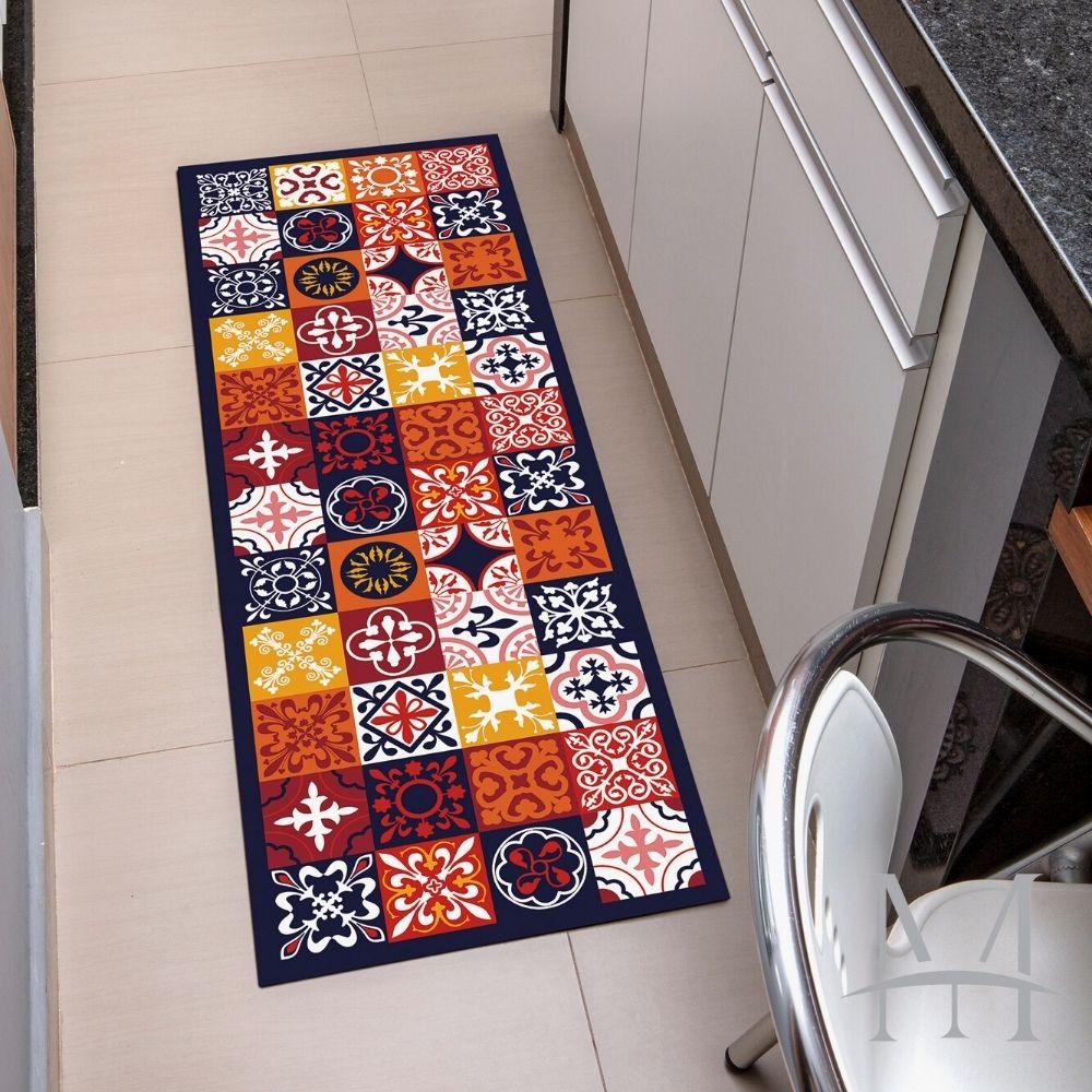 Passadeira de Cozinha Kacyumara Decore 0,45x1,20m Colors Tile