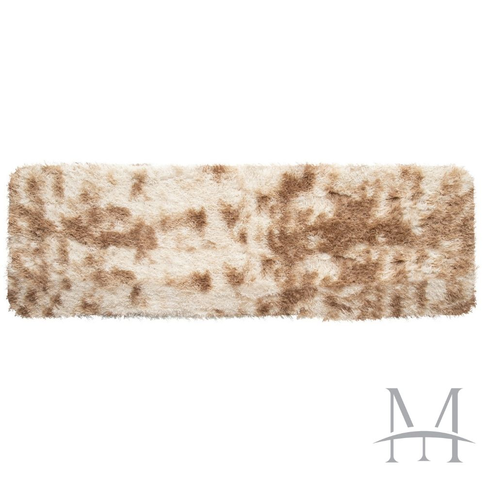 Passadeira Jolitex Luxo Felpudo Pelo Alto 0,50x1,80m Mescla Marfim