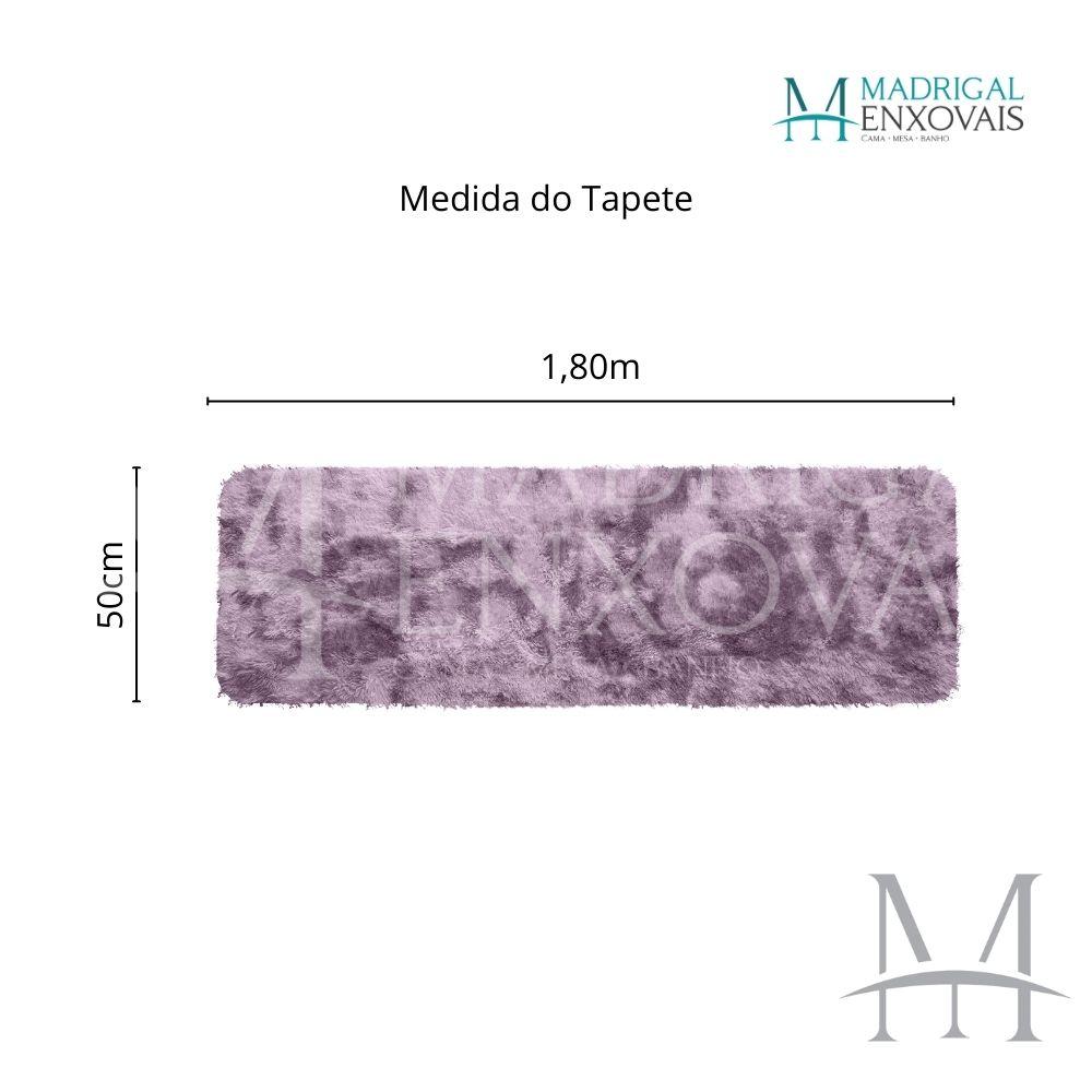 Passadeira Jolitex Luxo Felpudo Pelo Alto 0,50x1,80m Mescla Rose