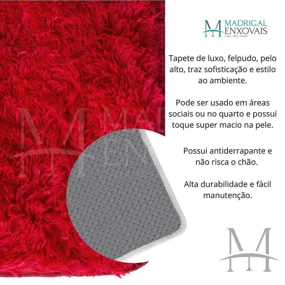 Passadeira Jolitex Luxo Felpudo Pelo Alto 0,50x1,80m Vermelho