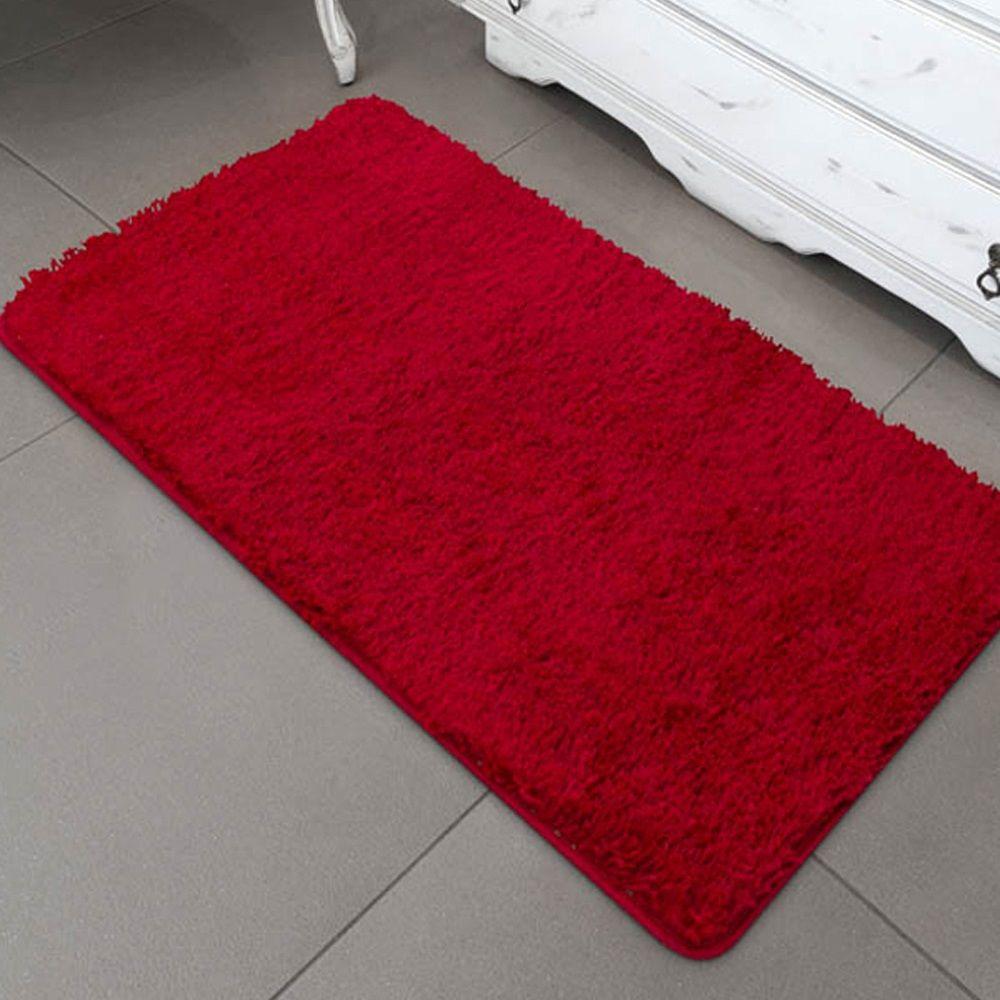 Passadeira Jolitex Realce Quarto ou Sala 0,66x1,80m Vermelha