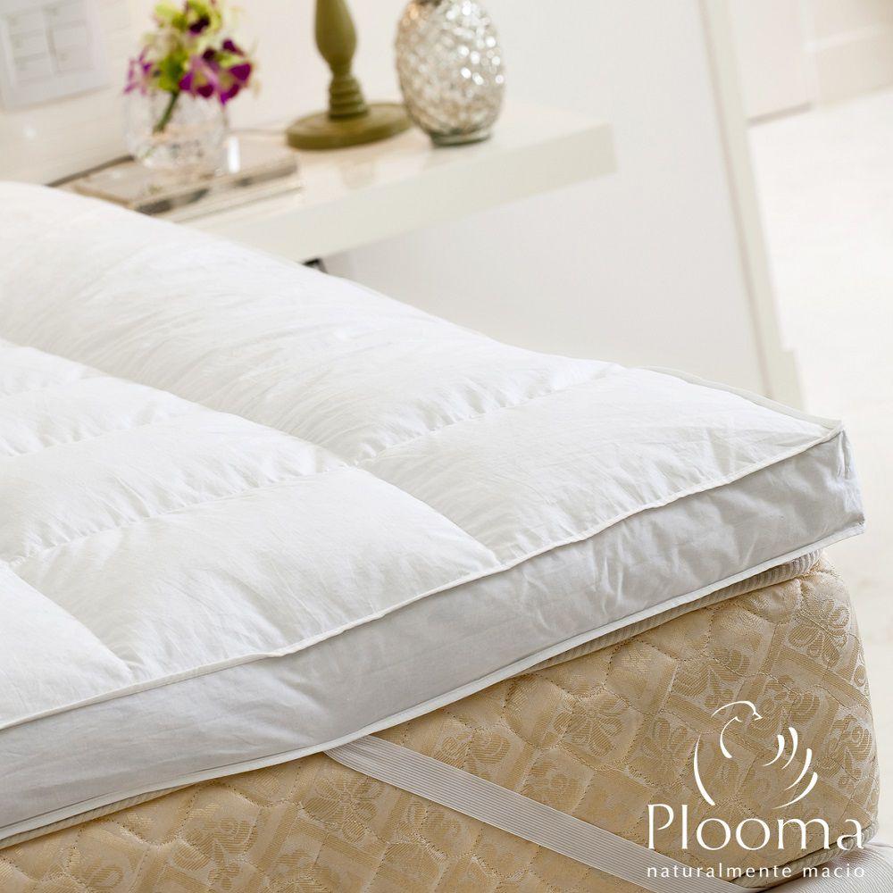 Pillow Top Plooma Casal 80% Penas 20% Plumas de Ganso Nomite