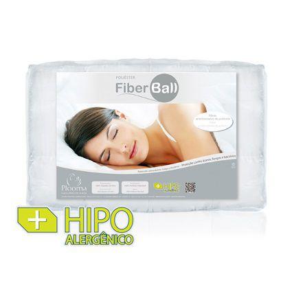 Pillow Top Plooma Colchão Casal 140x190x7cm Fibra Fiber Ball