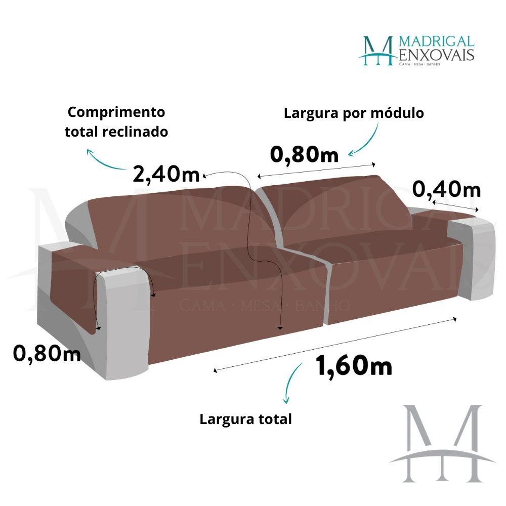 Protetor Sofá Retrátil Matelado 1,60m Dupla Face Lavive Fend