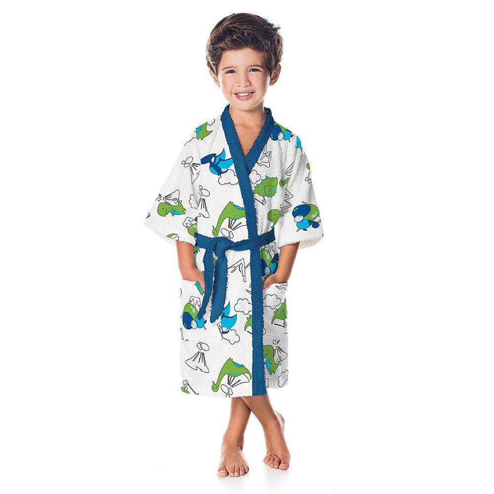 Roupão Infantil Felpudo Dino Tam P (4 a 6 Anos) Lepper