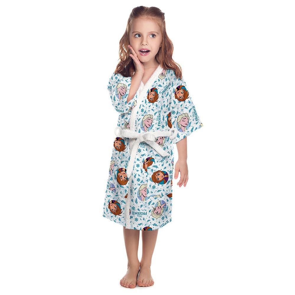 Roupão Infantil Felpudo Frozen 2 Tam M Lepper (6 a 8 Anos)