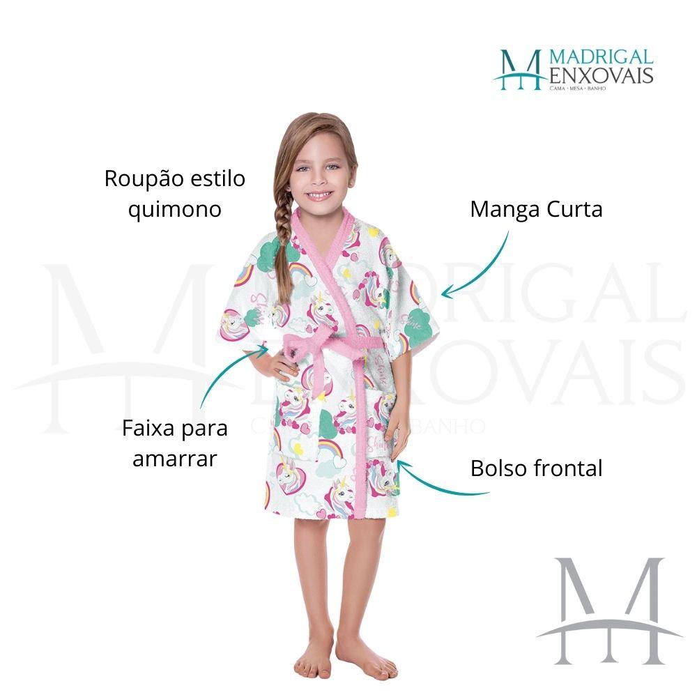 Roupão Infantil Felpudo Lepper Doce Fantasia Tam M (6 a 8 Anos)