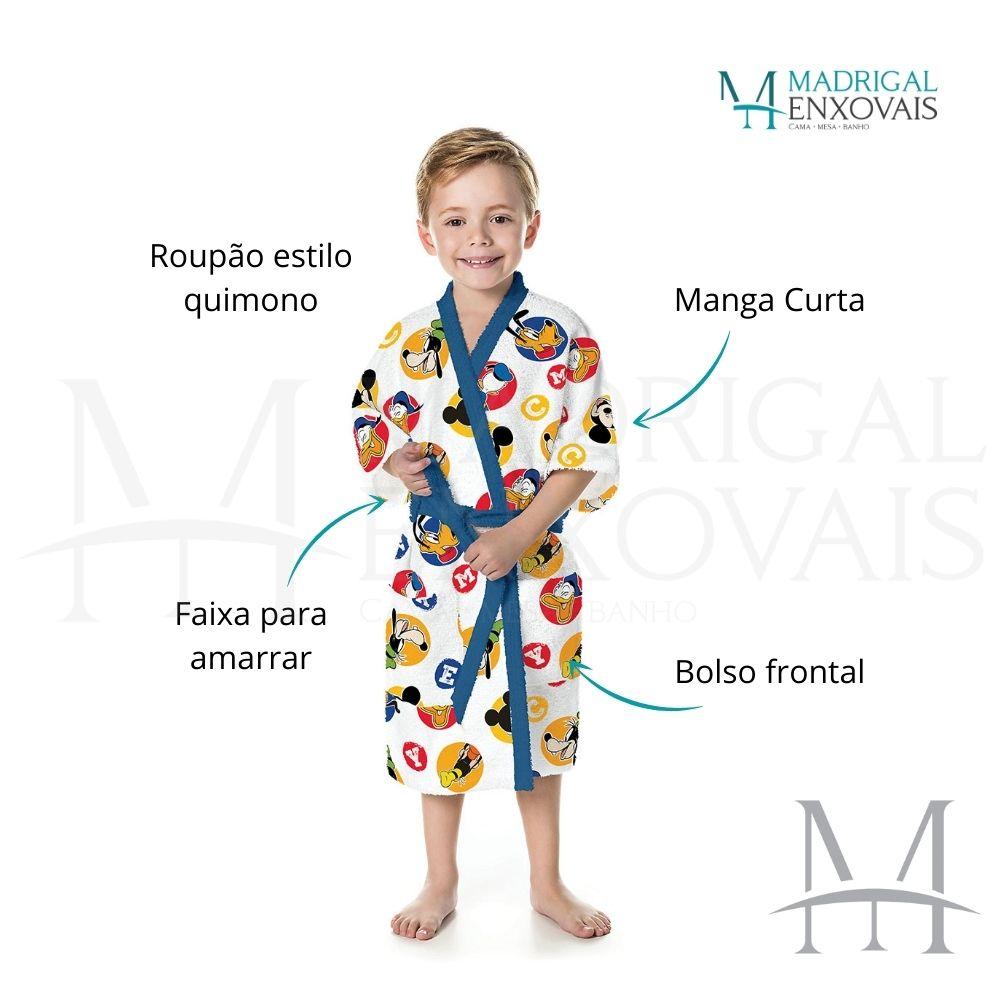 Roupão Infantil Felpudo Lepper Mickey Tam M (6 a 8 Anos)