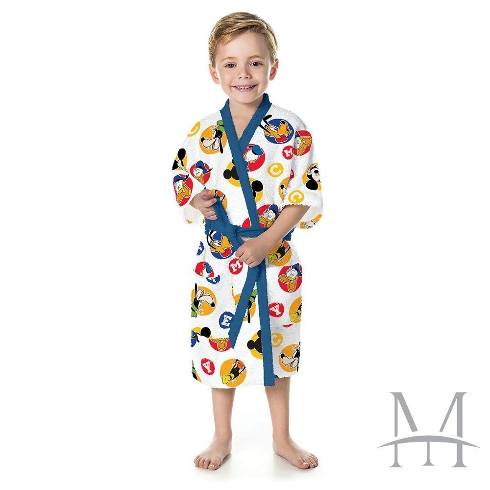 Roupão Infantil Felpudo Lepper Mickey Tam P (4 a 6 Anos)