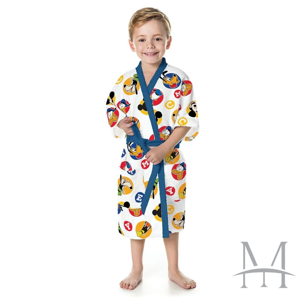 Roupão Infantil Felpudo Lepper Mickey Tam PP (2 a 4 Anos)