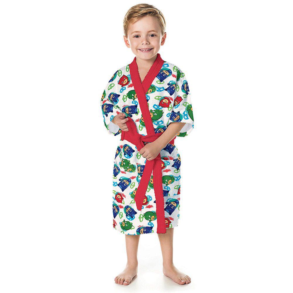 Roupão Infantil Felpudo PJ Masks Tam P (4 a 6 Anos) Lepper