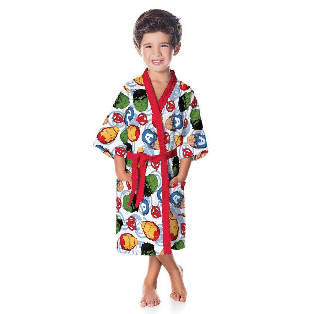Roupão Infantil Felpudo Vingadores Tam M (8 A 10 Anos) Lepper