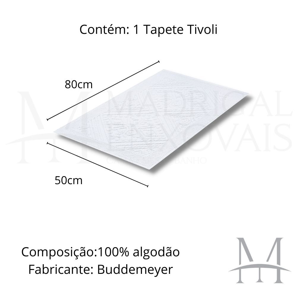 Tapete Banheiro Buddemeyer Tivoli 50x80cm 100% Algodão