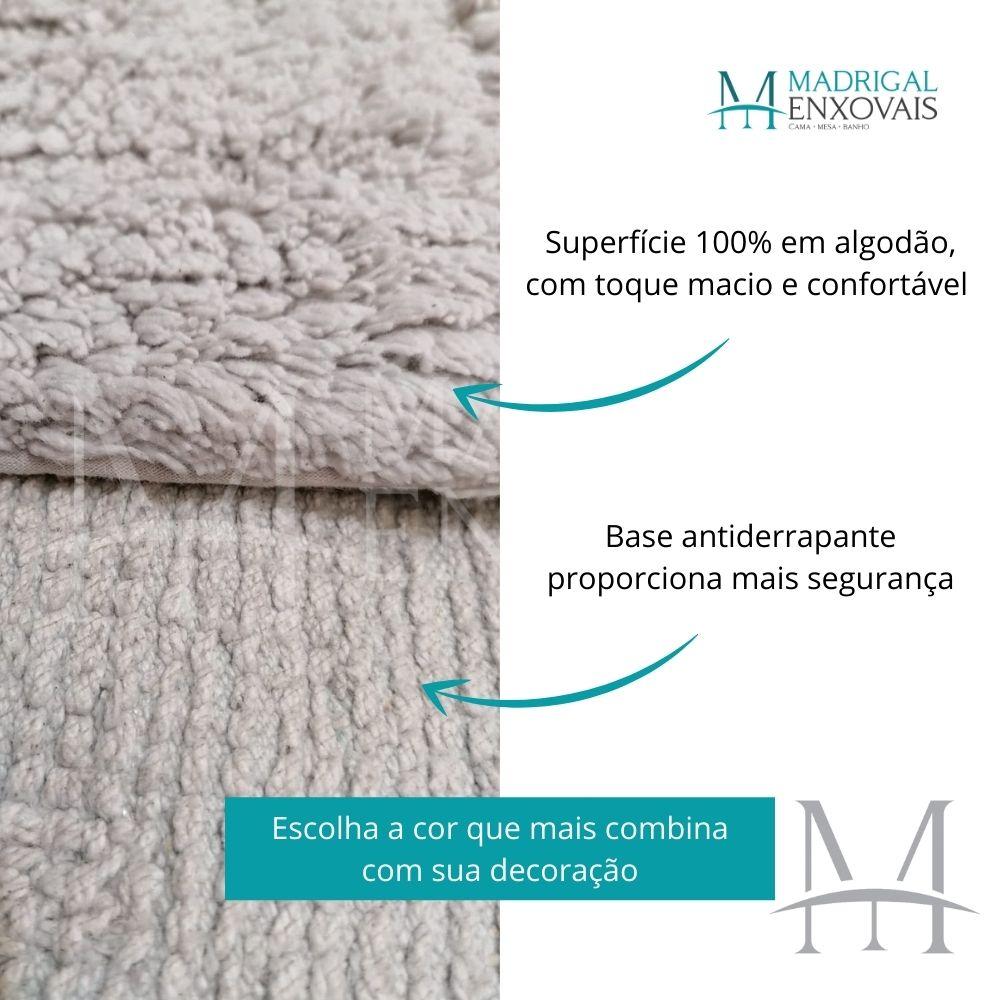 Tapete Banheiro Naturalle Bogotá 50x80cm Algodão Antiderrapante